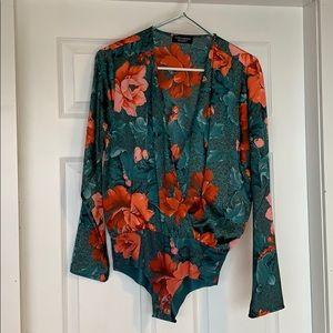 Zara blouse bodysuit